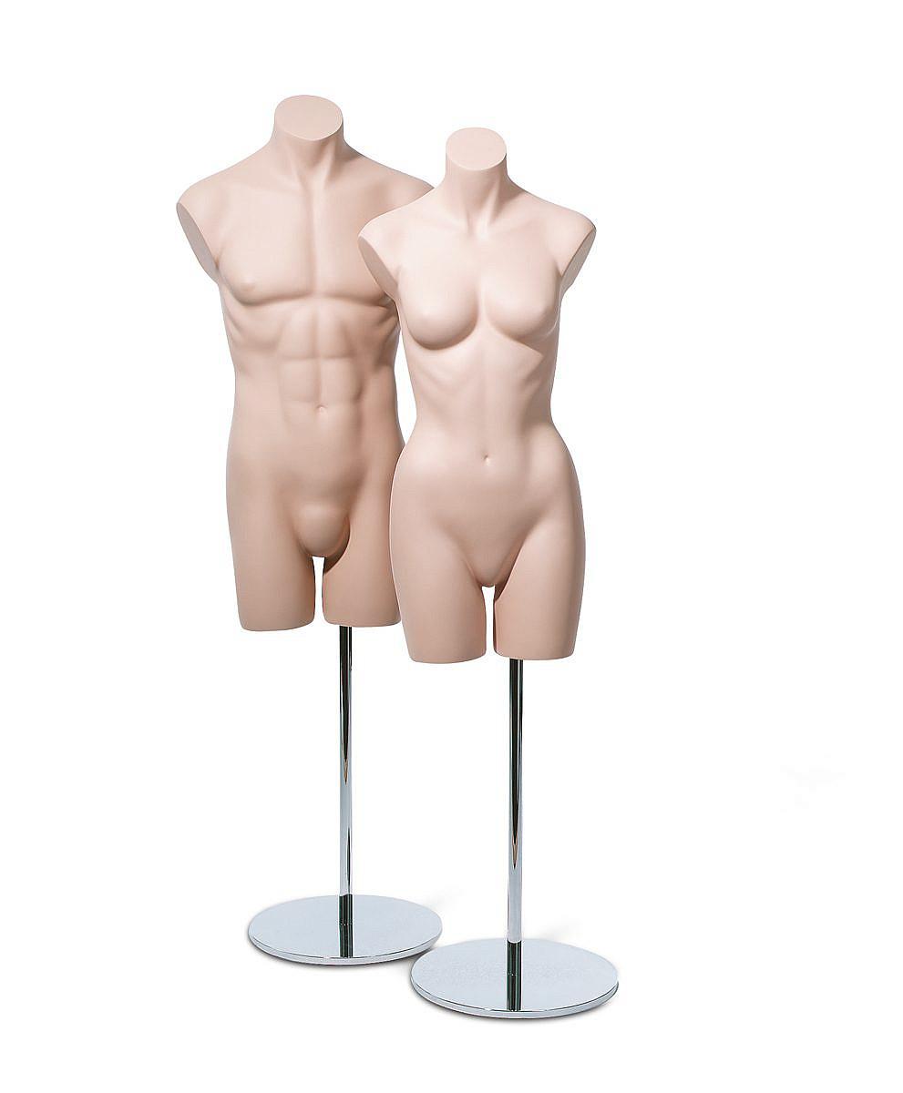 Basic Bodies 3/4 Male & Female Skin Tone