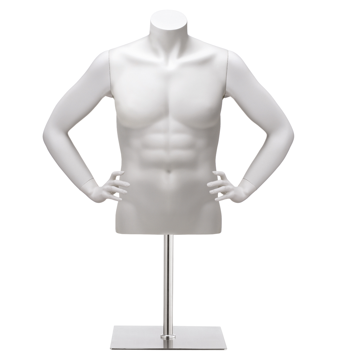 Male  Female Headless Torsos With Arms White-3111