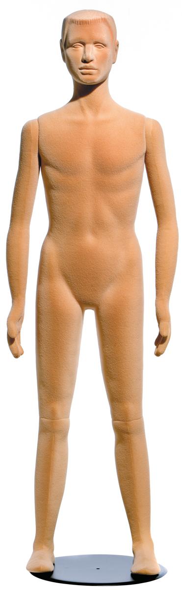 Flexible Boy 15yrs Head Features Flocked Skin Tone