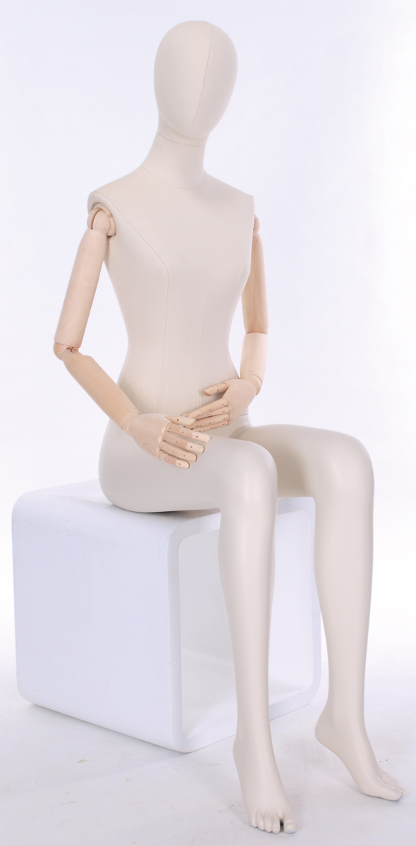 Meta Abstract Female Mannequin Sitting 3